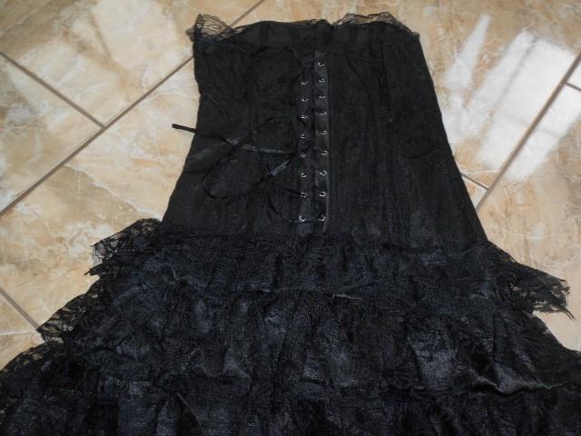 eb071 corsagen spitzen kleid zum schn ren kleid m schwarz. Black Bedroom Furniture Sets. Home Design Ideas